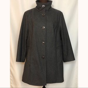 LARRY LEVINE Women's Wool Blend Coat, 3/4 Length